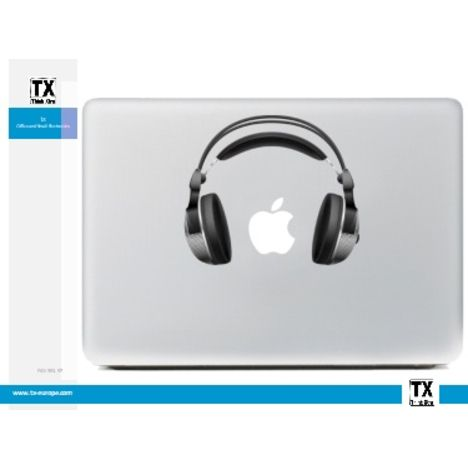 DESTROY POP Sticker pour Macbook motif Casque
