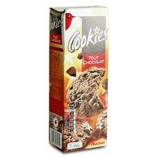 AUCHAN Cookies tout chocolat 12 biscuits 200g