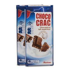 Auchan Choco Crac!! au lait et riz 2x100g