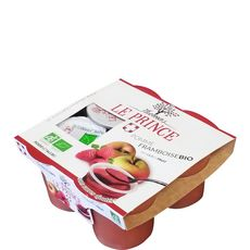 THOMAS LE PRINCE Compote pomme framboise 4x130g 520g