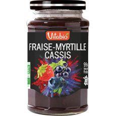 Vitabio délice fraise myrtille cassis bio 290g