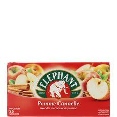 ELEPHANT Eléphant Infusion pomme et cannelle sachet x25 - 64g