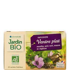 JARDIN BIO ETIC Infusion ventre plat, menthe anis vert mauve et réglisse 20 sachets 30g