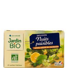 JARDIN BIO ETIC Infusion nuits paisibles,  arôme naturel de mandarine 20 sachets 30g