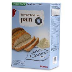 AUCHAN MIEUX VIVRE Préparation pour pain sans gluten 1kg