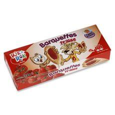 AUCHAN RIK & ROK Auchan Rik & Rok Barquettes à la fraise, sachets fraîcheur 3x6 biscuits 120 3x6 biscuits 120g
