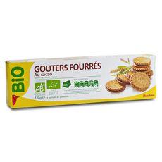Auchan bio goûters fourrés cacao 185g