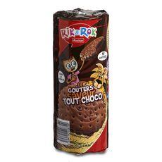 AUCHAN RIK & ROK Biscuits fourrés ronds saveur tout choco 15 biscuits 300g