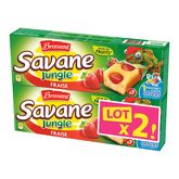 Brossard savane jungle fraise x7 -2x175g