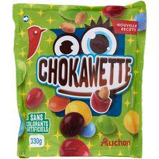 AUCHAN Chokawette bonbons chocolatés sans colorants artificiels 330g