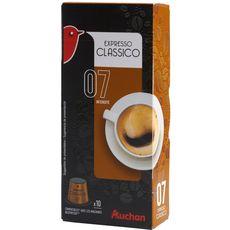 Auchan café classico nespresso capsule x10 -52g