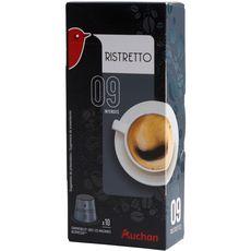Auchan café ristretto nespresso capsule x10 -52g