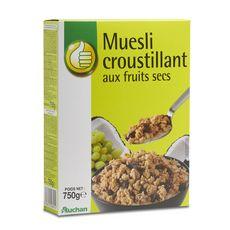 POUCE Muesli croustillant aux fruits secs 750g