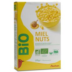 Auchan céréales miel nuts bio 375g