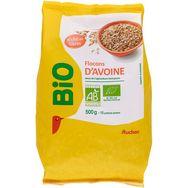 Auchan bio flocons d'avoine 500g