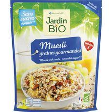 JARDIN BIO ETIC Muesli aux graines gourmandes sans sucres ajoutés 375g