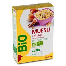 AUCHAN BIO Auchan Bio Muesli aux 7 fruits 500g 500g