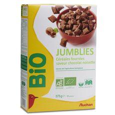 Auchan bio jumblies fourrés choco noisette 375g