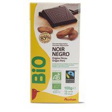 Auchan Bio chocolat noir 85% -100g