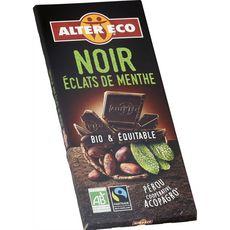 Alter Eco bio chocolat noir éclats de menthe 100gg