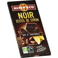 Alter Eco chocolat noir citron bio 100g