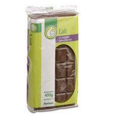 AUCHAN ESSENTIEL Tablette de chocolat au lait et céréales croustillantes 4 pièces 4x100g