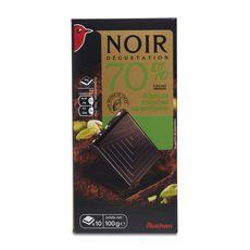 Auchan chocolat noir dégustation éclats pistache 70% -100g