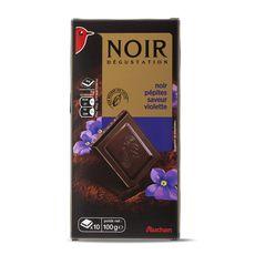 Auchan chocolat noir éclats de violette 100g