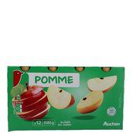Auchan compote allégée pomme gourde 12x90g