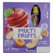 Auchan spécialité allégée multifruits gourde 4x90g
