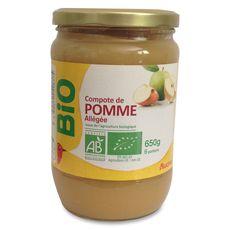 Auchan Bio compote de pomme allégée bocal 650g