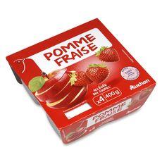 Auchan spécialité de fruits pomme fraise 4x100g