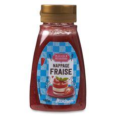 Auchan coulis fraise 180g
