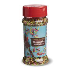 Auchan vermicelles multicolores 65g