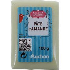 Auchan pâte d'amande naturel 100g