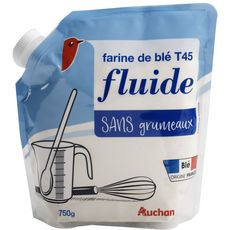 AUCHAN Farine de blé fluide T45 750g