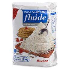 Auchan farine de blé fluide T45 -1kg