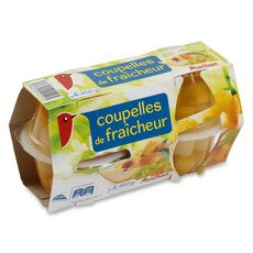 Auchan fruits coupelle fraîcheur 4x113g