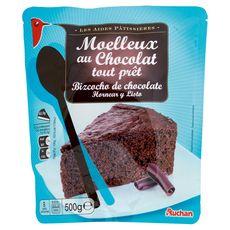 AUCHAN Moelleux au Chocolat tout prêt 8 parts 500g