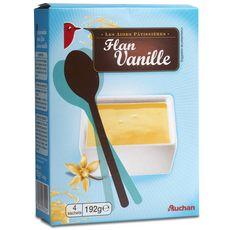 Auchan préparation pour flan saveur vanille 192g