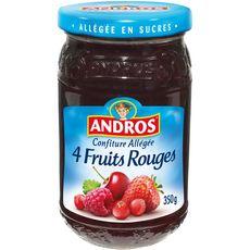 ANDROS Confiture aux 4 fruits allégée en sucres 350g