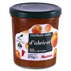 Auchan confiture d'abricot 370g