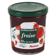 Auchan confiture extra de fraises 370g