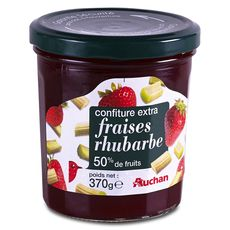 Auchan confiture extra fraise rhubarbe 370g