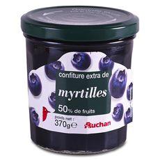 Auchan confiture extra aux myrtilles 370g