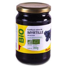 AUCHAN BIO Confiture extra de myrtilles 350g