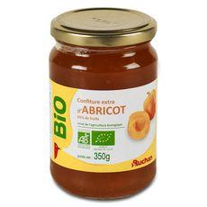 AUCHAN BIO Confiture extra d'abricot 350g