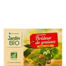 JARDIN BIO ETIC Infusion brûleur de graisses saveur vanille 20 sachets 30g