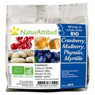 Natur atitud Mélange de 4 fruits séchés bio 200g