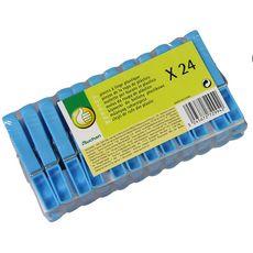 POUCE Pinces à linge en plastique 24 pinces